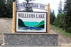 Welcome to Williams Lake sign