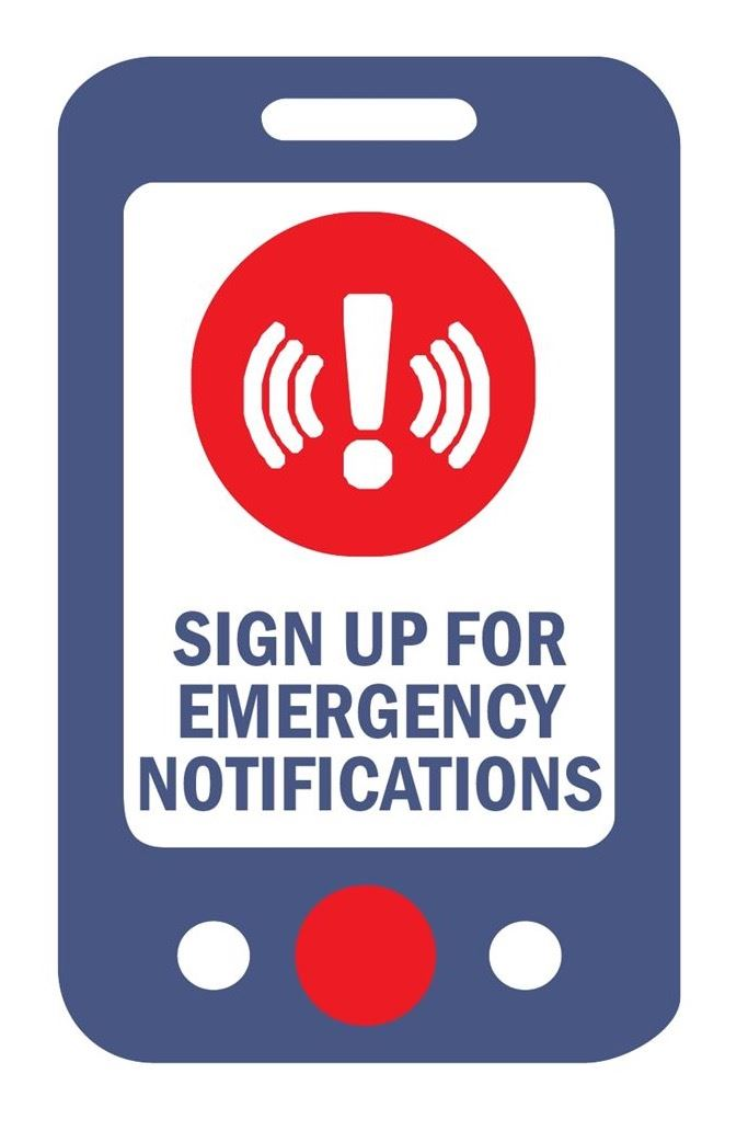 Emergency Notifications System Sign-Up Page