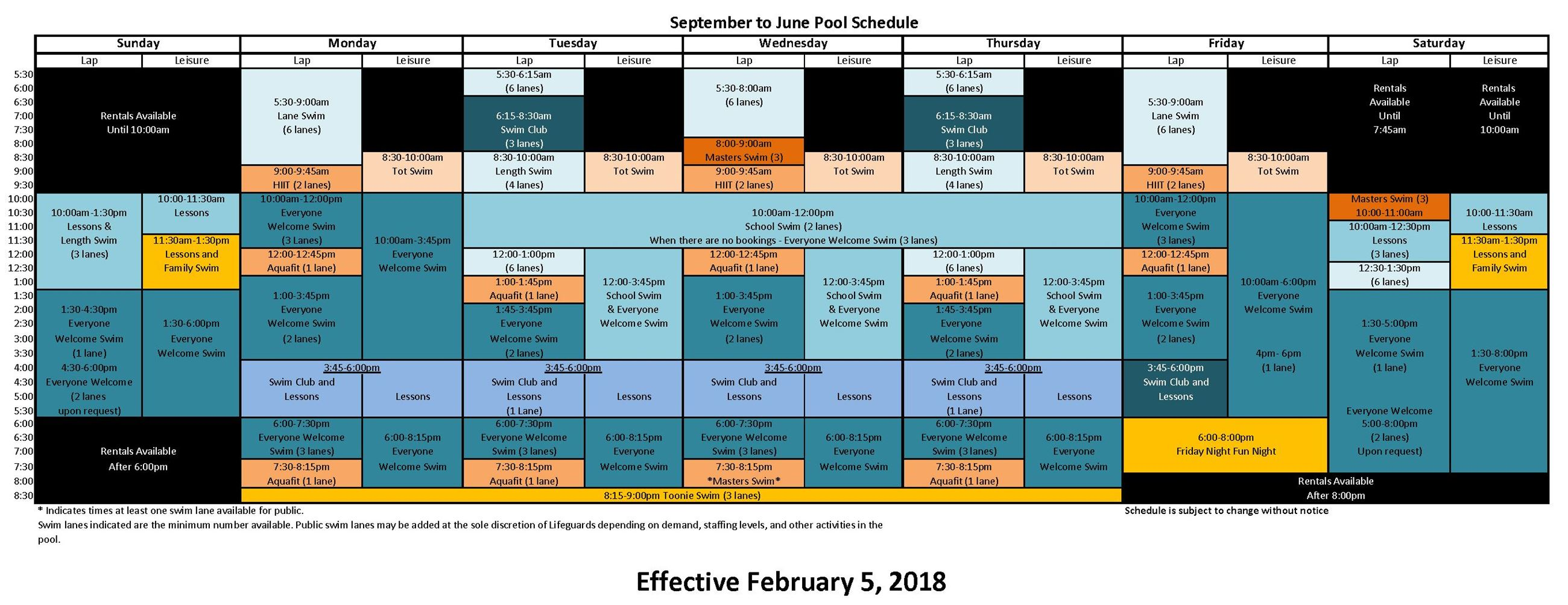 Spring Pool Schedule Feb 5 2018