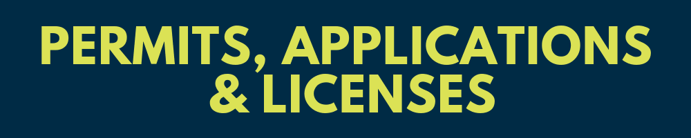 Permits Applications Licenses