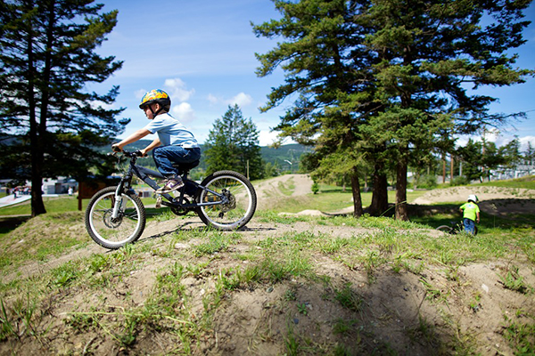 Kids in bike park