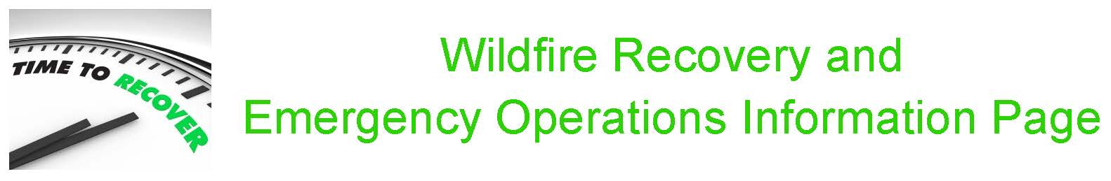 Wildfire Recovery Page Image