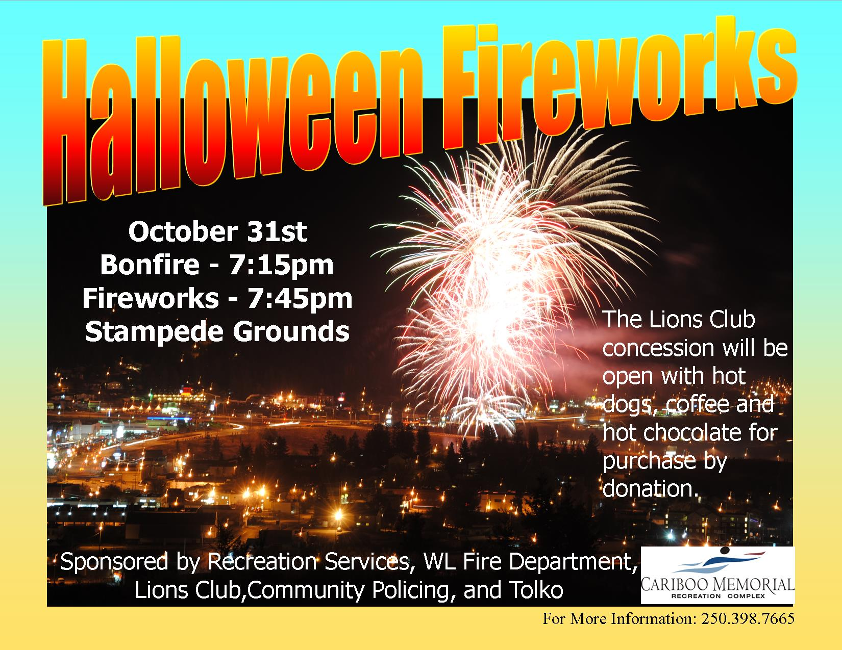 Halloween fireworks 2016 - oct 31