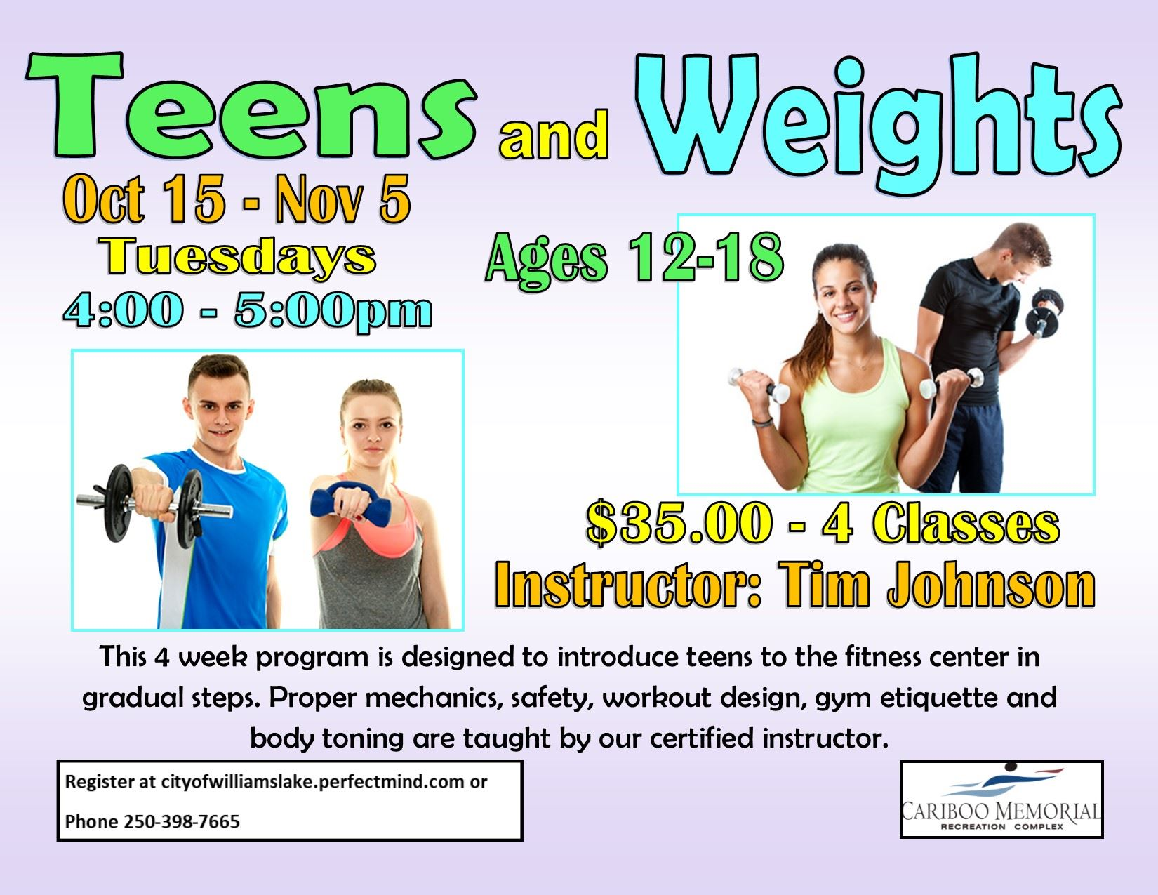 Teens and Weights Oct 15