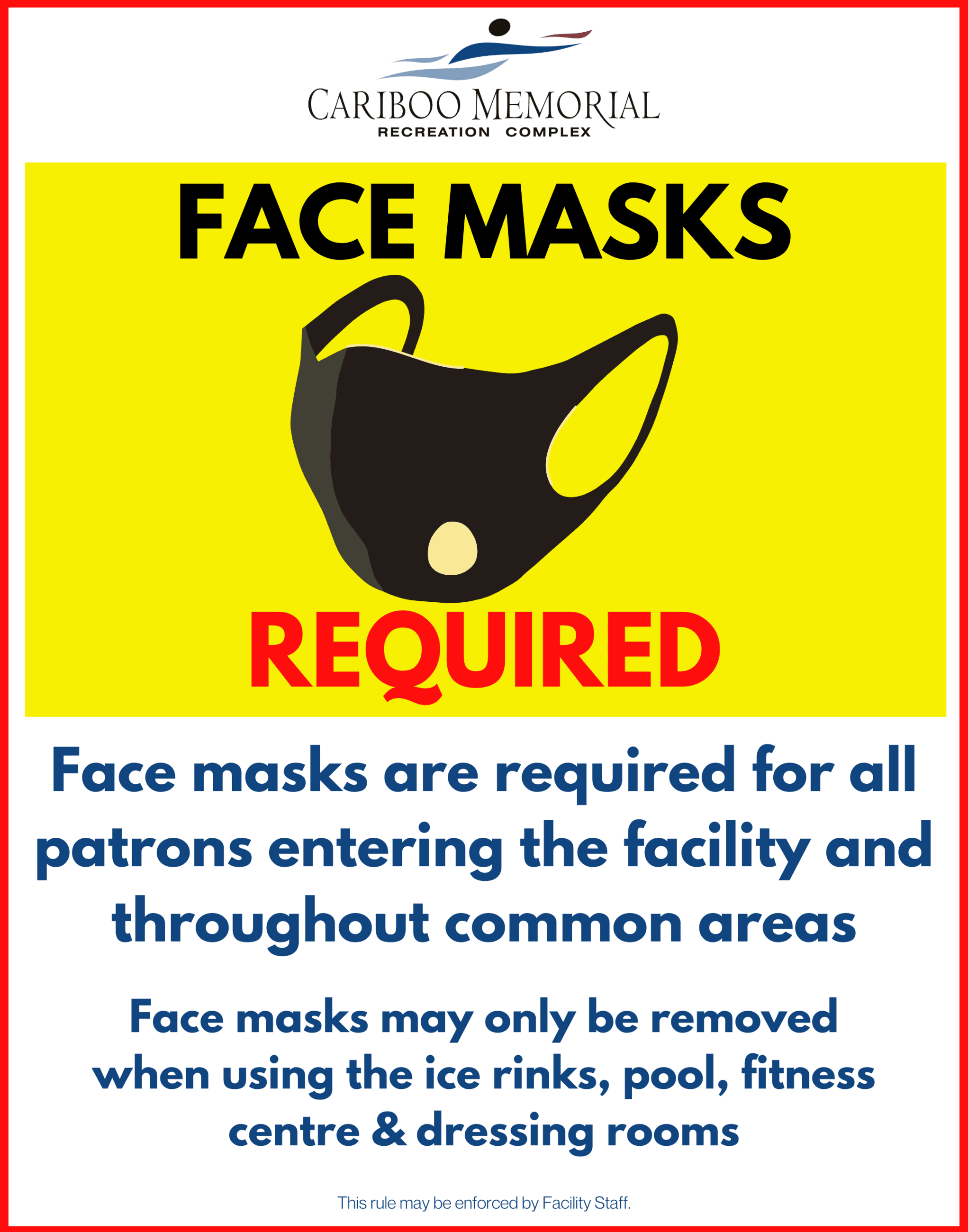 22x28 Masks Required Updated