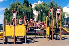 Children play on Kiwanis Playground